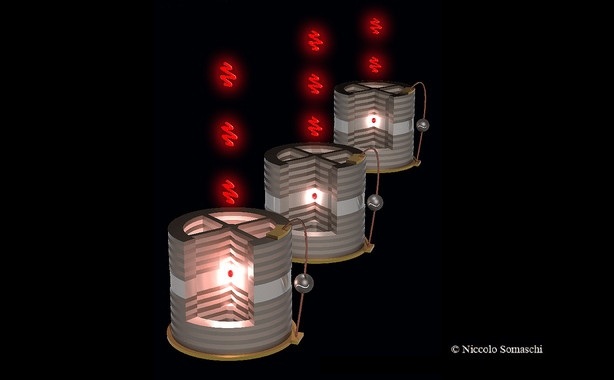 Dispositivos de emisión individual de fotones (uno a uno). Imagen de Niccolo Somaschi/LPN-CNRS