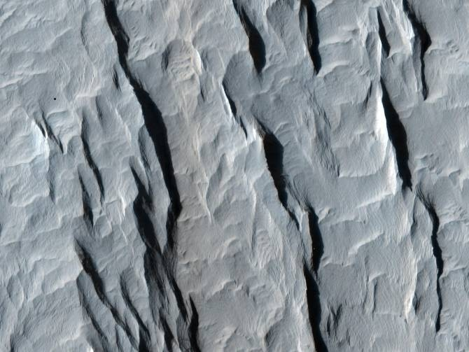Un sector de Arabia Terra. (Foto: NASA/JPL-Caltech/University of Arizona)