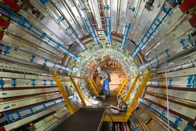 Sector del detector ATLAS, empleado en la investigación. (Foto: Claudia Marcelloni / CERN)